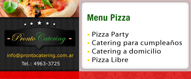 pronto pizza, variedades de pizzas, menu pizza, pizza capital, número de pizza, catering de pizzas, pizza.a.domicilio, promocion pizza, domicilio pizza, la pronto pizza,