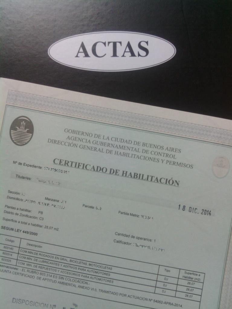 certificado de habilitacion Juan Patricio Furlong contacto