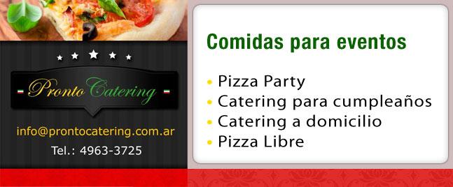catering menu infantil, menus para cumpleaños