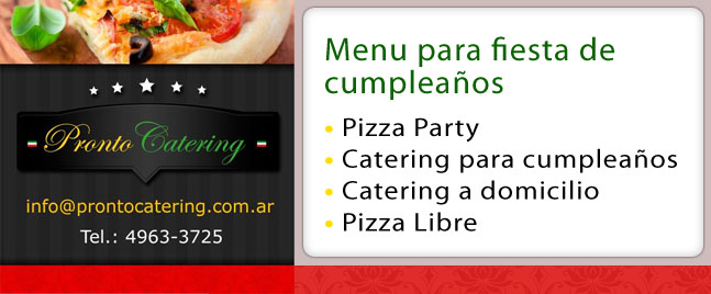 Eventos Pizza Party Barrio Escobar